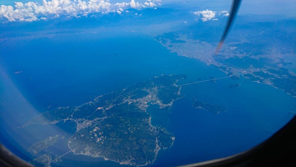 伊丹~熊本間で見えるしまなみ海道
