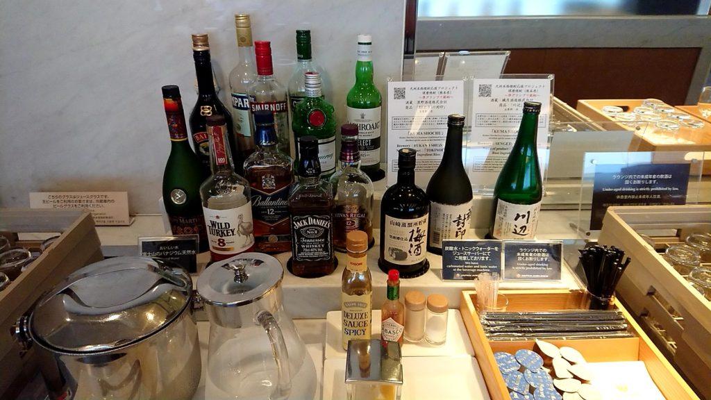 成田空港サクララウンジの飲み物
