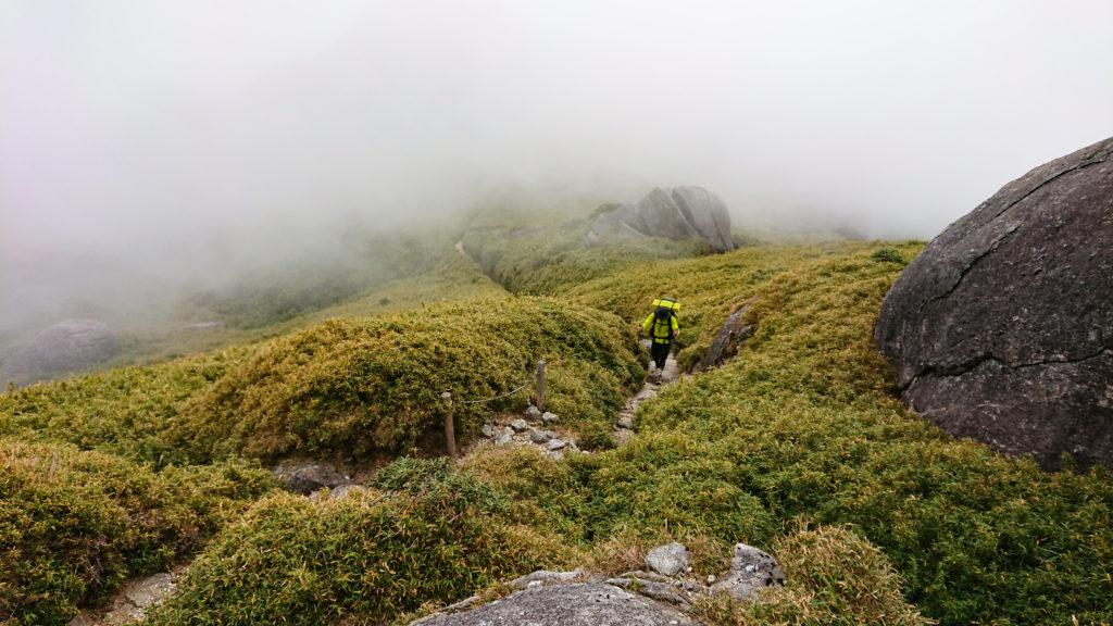 宮之浦岳山頂を目指す