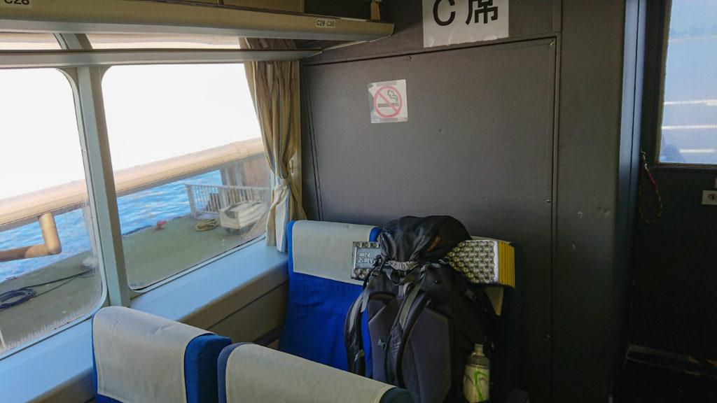高速船の2階席