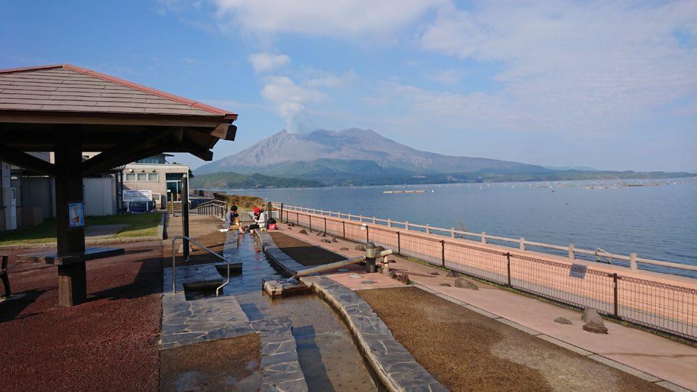 鹿児島県の道の駅たるみずから見た桜島