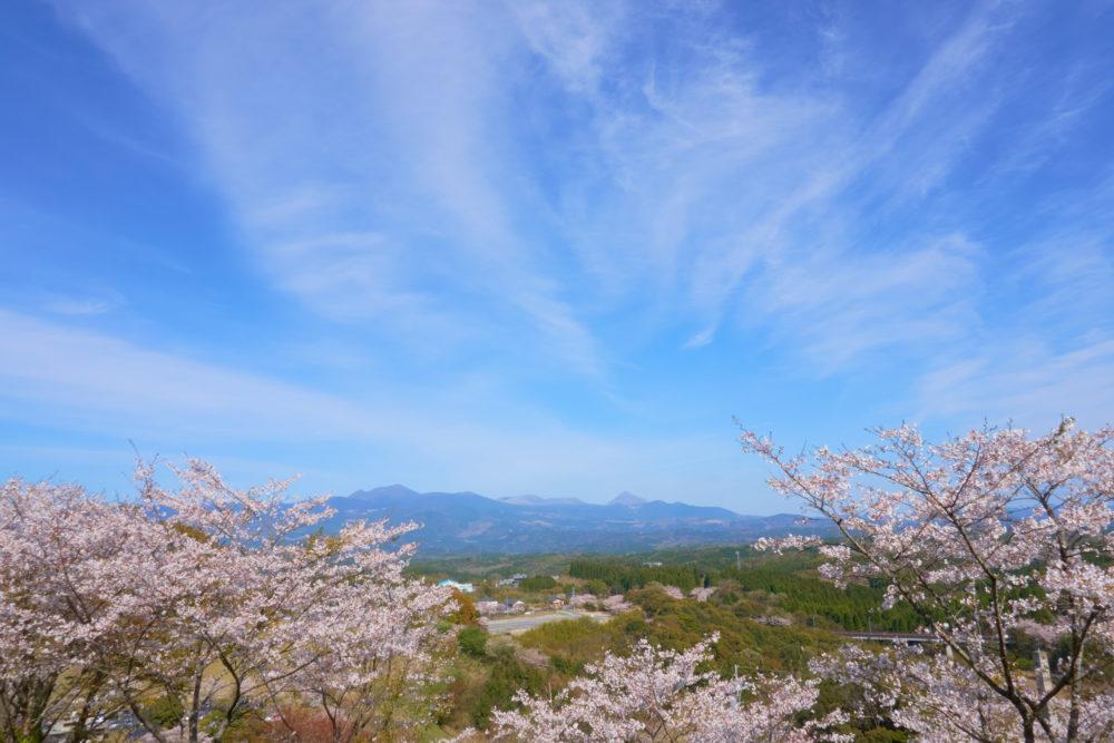 鹿児島県にある丸岡公園の展望台からの眺め