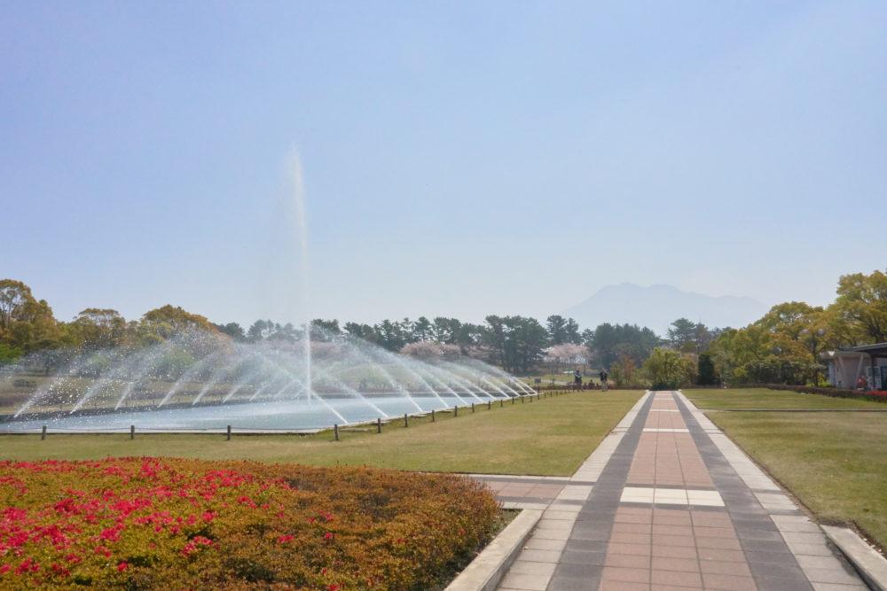 鹿児島県の吉野公園にある噴水