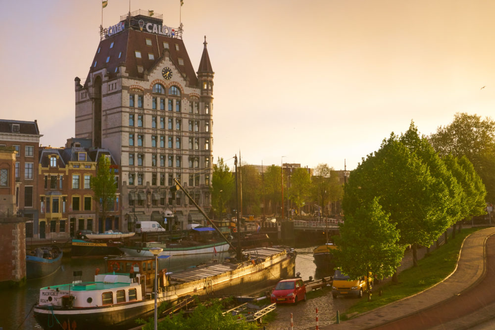 オランダのロッテルダムにあるヴィッテハウスの近景