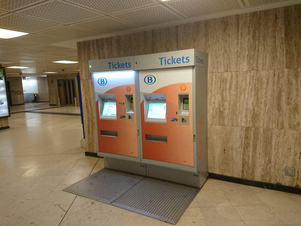ベルギー鉄道の券売機