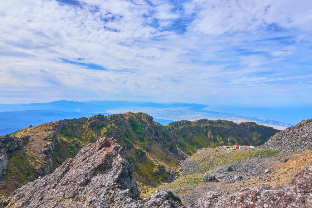 鳥海山の七高山からの眺め