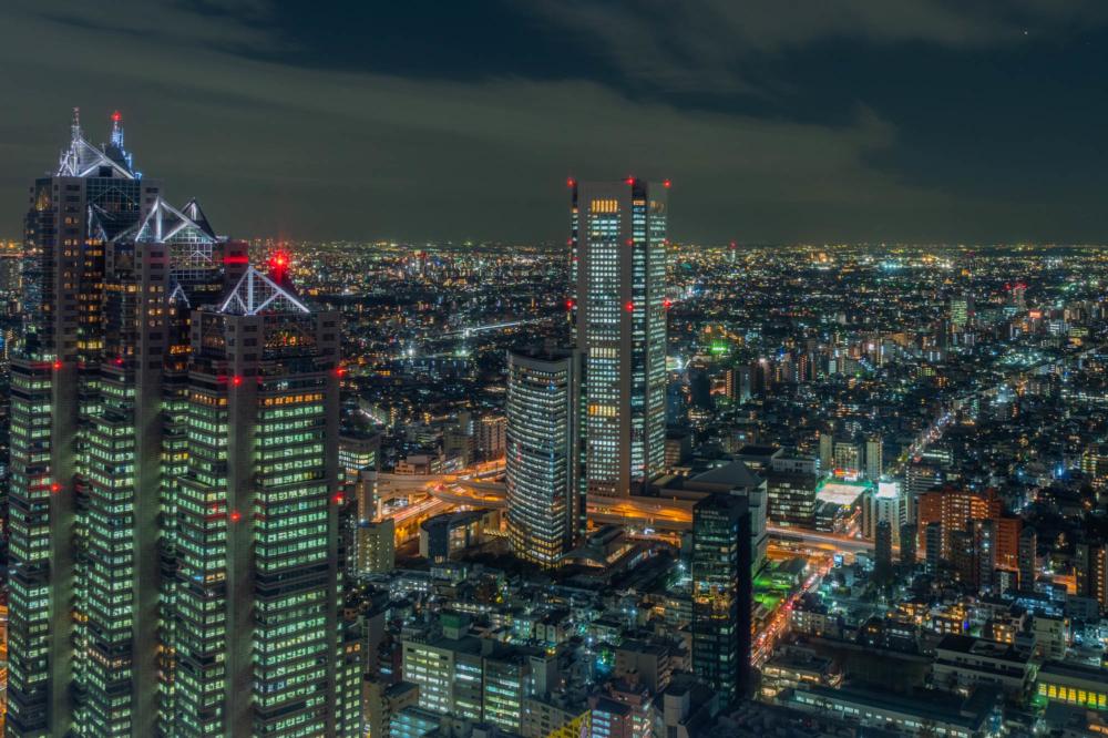 都庁展望台から西側の夜景