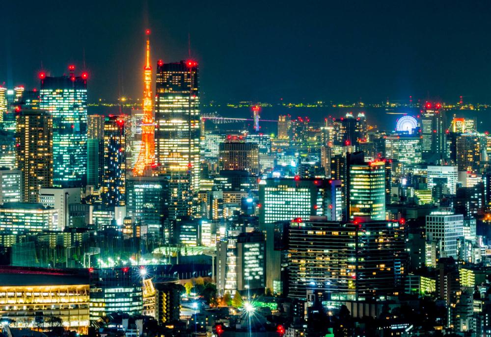 都庁展望台から見る東京タワー